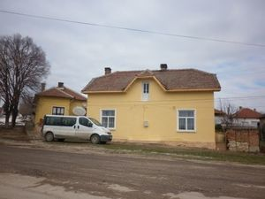 Big property consisting of two solid houses,two barns,garage and several small farm buildings along with 1800 sq.m. plot of land situated in a village 55 km away from the town of Vratza