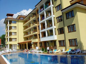 Pool view Furnished 1-Bedroom apartment in Sunny Dreams