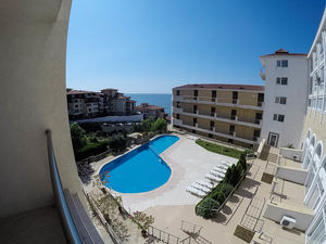 1-Bedroom apartment with POOL and SEA view in Galateya