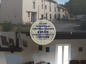 For Sale a terraced house with garden