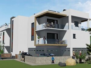 Luxury apartments with panoramic sea views in Paphos.