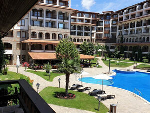 Pool View furnished 1 bedroom apartment in Olimp, St. Vlas