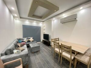2 beds in residential building with swimming pool