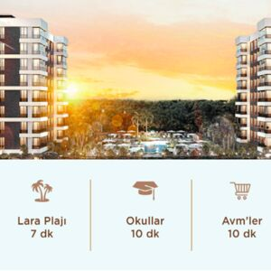 ANTALYA ALTINTAŞ LARA BEACH; PROJECT FLATS FOR SALE